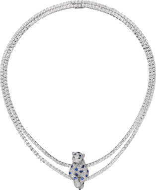 Panthère de Cartier necklace White gold, emerald, sapphire, onyx, diamonds