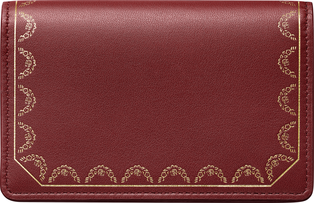 Guirlande de Cartier Small Leather Goods, card holderBurgundy calfskin