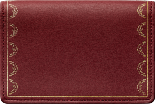 Guirlande de Cartier Small Leather Goods, card holder Burgundy calfskin