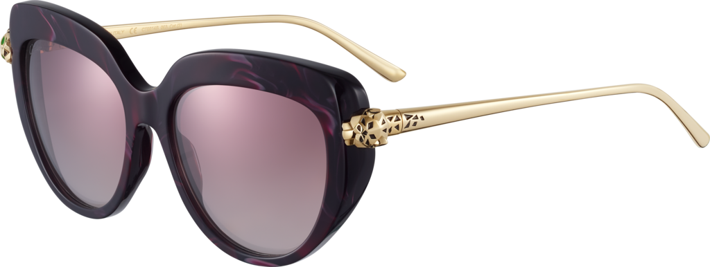 Panthère de Cartier sunglassesBurgundy composite and graduated burgundy lenses