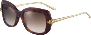 Panthère de Cartier sunglasses Tortoiseshell composite and graduated brown lenses