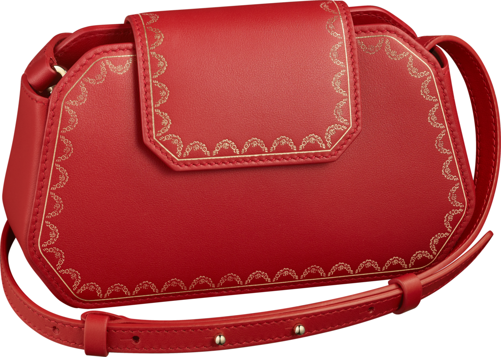 Nano Bag, Guirlande de CartierRed calfskin, golden finish