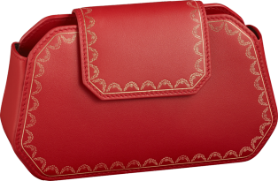 Nano Bag, Guirlande de Cartier Red calfskin, golden finish