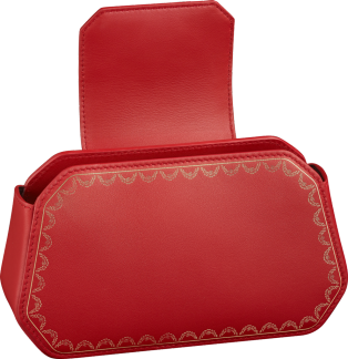 Guirlande de Cartier bag, nano Red calfskin, golden finish