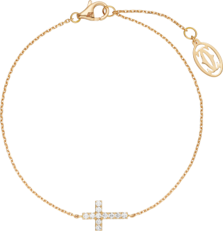 Symbols bracelet Pink gold, diamonds