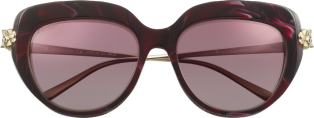 Panthère de Cartier sunglasses Burgundy composite and graduated burgundy lenses