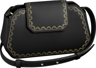 Guirlande de Cartier bag, nano Black calfskin, golden finish