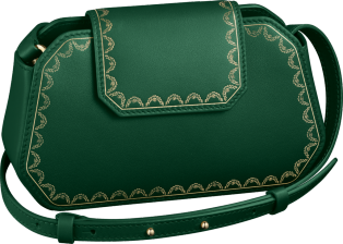 Guirlande de Cartier bag, nano Green calfskin, golden finish