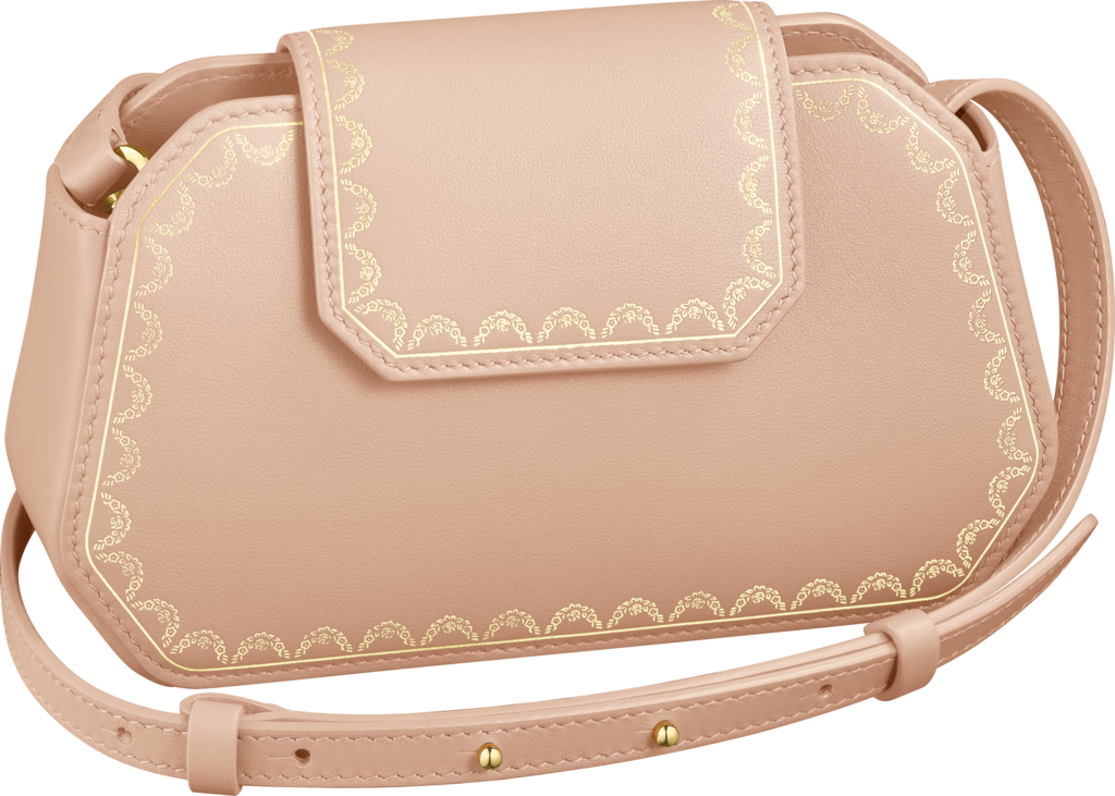 Guirlande de Cartier bag, nanoPowdered beige calfskin, golden finish