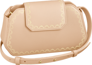 Nano Bag, Guirlande de Cartier Powdered beige calfskin, golden finish