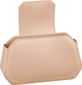 Guirlande de Cartier bag, nano Powdered beige calfskin, golden finish
