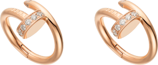 Juste un Clou cufflinks Pink gold, diamond