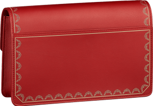 Guirlande de Cartier bag, wallet bag Red calfskin, golden finish