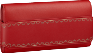 Guirlande de Cartier bag, long clutch Red calfskin, golden finish