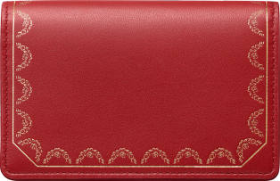 Guirlande de Cartier Small Leather Goods, multi-card holder with flap Red calfskin