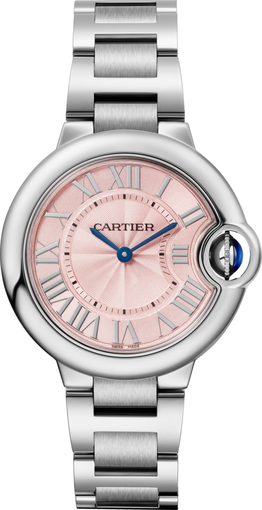 Ballon Bleu de Cartier watch33mm, quartz movement, steel