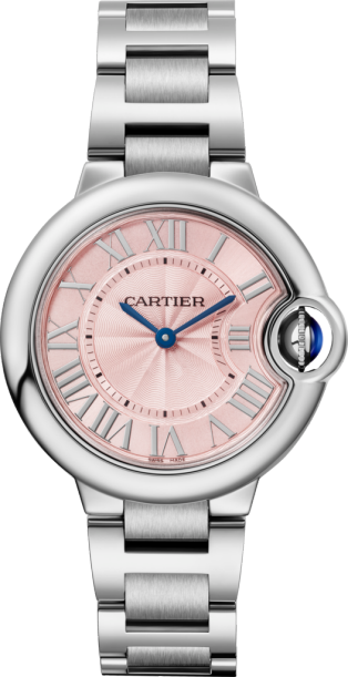 Ballon Bleu de Cartier watch 33mm, quartz movement, steel