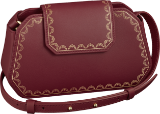 Guirlande de Cartier bag, nano Burgundy calfskin, golden finish