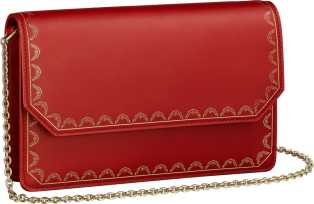 Wallet Bag, Guirlande de Cartier Red calfskin, golden finish