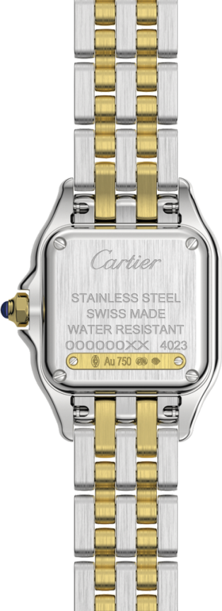 Panthère de Cartier watch Small model, quartz movement, yellow gold, steel