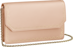 Guirlande de Cartier bag, wallet bag Powdered beige calfskin, golden finish