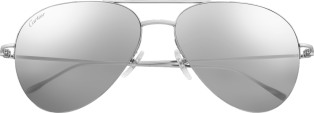 Louis Cartier Precious sunglasses 18K white gold and white gold-finished lenses