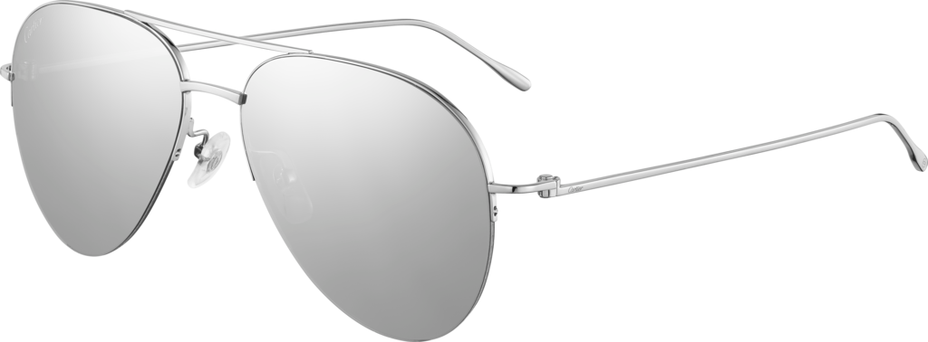 Louis Cartier Precious sunglasses18K white gold and white gold-finished lenses