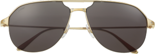 Santos de Cartier sunglasses Smooth and brushed golden-finish metal, gray lenses