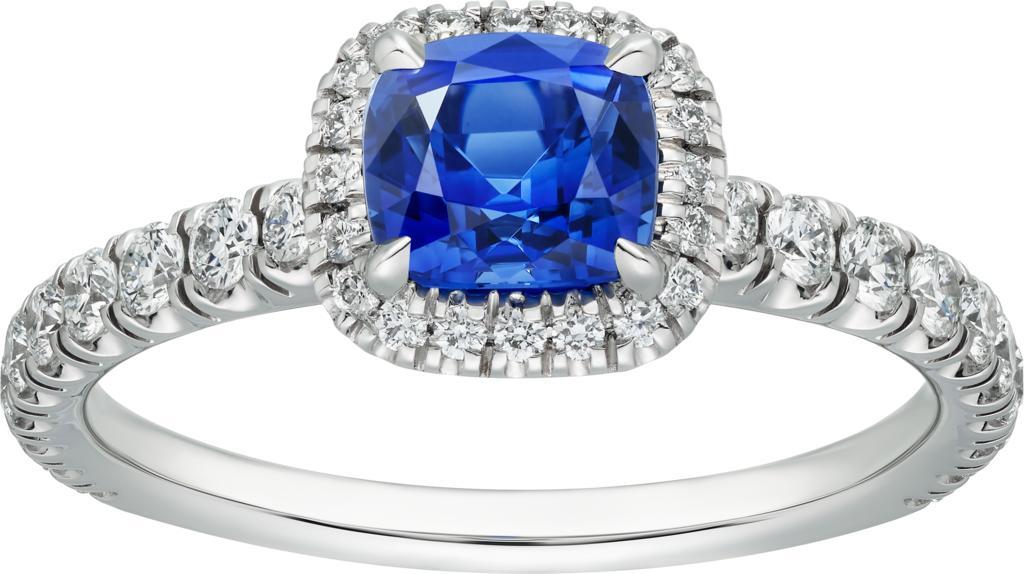 Cartier Destinée Solitaire with colored stonePlatinum, sapphire, diamonds - 1.00 1.49 ct Q1