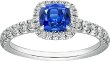 Cartier Destinée Solitaire with colored stone Platinum, sapphire, diamonds - 1.00 1.49 ct Q1
