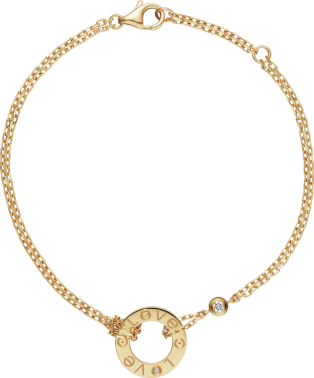 Love bracelet Yellow gold, diamonds