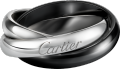 Trinity ring, classic ceramic White gold, ceramic
