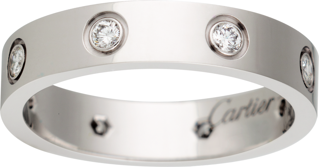 Love wedding band, 8 diamondsWhite gold, diamonds