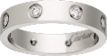 <span class='lovefont'>A </span> wedding band, 8 diamonds White gold, diamonds
