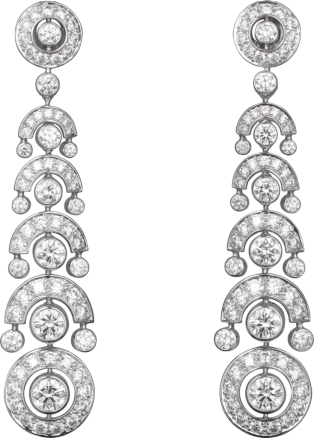 Faune et Flore de Cartier earrings White gold, diamonds