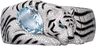 Cartier High Jewelry Fauna and Flora bracelet White gold, aquamarine, tourmalines, onyx, diamonds