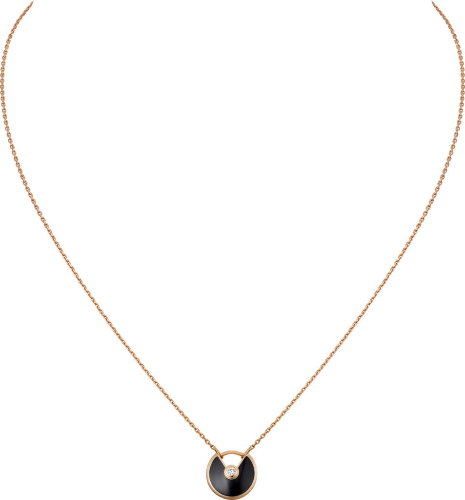 Amulette de Cartier necklace, XS modelPink gold, onyx, diamonds