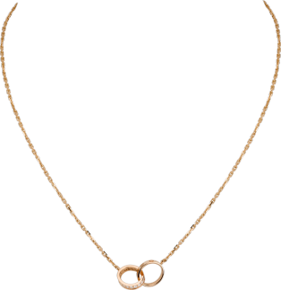 Love necklace, diamonds Pink gold, diamonds