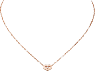 Heart necklace Pink gold, diamonds