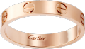<span class='lovefont'>A </span> wedding band Pink gold