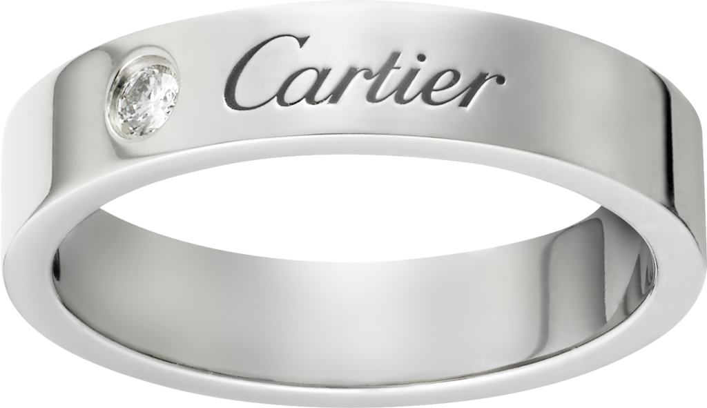 C de Cartier wedding bandPlatinum, diamond