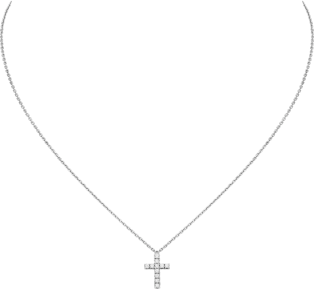 Symbols necklace White gold, diamonds