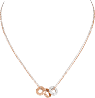 <span class='lovefont'>A </span> necklace, 6 diamonds Pink gold, white gold, diamonds