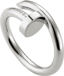 Juste un Clou ring White gold