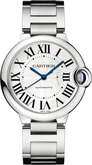 Ballon Bleu de Cartier watch 36mm, automatic movement, steel