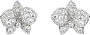 Caresse d'Orchidées par Cartier earrings White gold, diamonds