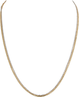 Trinity necklace White gold, yellow gold, pink gold