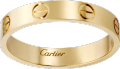 <span class='lovefont'>A </span> wedding band Yellow gold