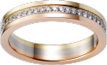 Trinity wedding band White gold, yellow gold, pink gold, diamonds