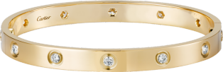 <span class='lovefont'>A </span> bracelet, 10 diamonds Yellow gold, diamonds